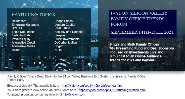 IVYFON Silicon Valley Family Office Trends Forum